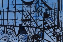 Constellaties (1), 2015, acryl op doek, 70 x 50 cm