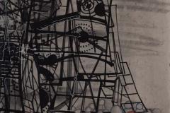 Constellaties (2), 2015, acryl op doek, 70 x 50 cm