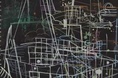 Constellaties (8), 2015, acryl op doek, 50 x 40 cm